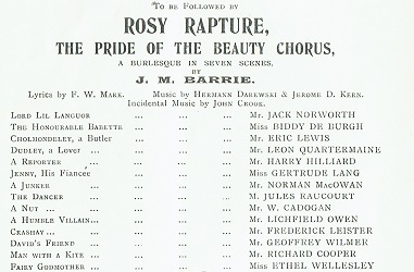 Rosy Rapture cast list